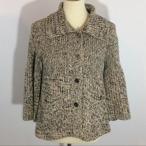 One Girl Who Anthropologie Chunky Knit Sweater EUC